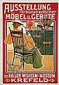 Poster: Ausstellung Möbel u. Geräte