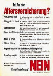 Poster: Altersversicherung Nein