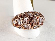 18k White and Rose Gold 7.70ct Morganite Ring