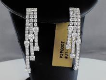 18k White Gold 5.17ct Diamond Earrings