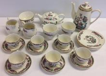A Lord Nelson Pottery part tea & coffee set Indian Tree pattern.