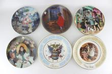 SIX COLLECTOR'S CERAMIC PLATES