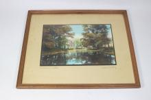 WALLACE NUTTING  LANDSCAPE PHOTOGRAPH SIGNED