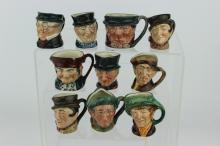 TEN ROYAL DOULTON TOBY MUGS