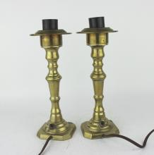 PAIR OF CANDLE HOLDER ELECTRONIC LAMPS