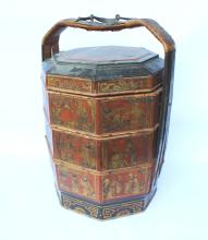 ANTIQUE MULTI-LAYER FOOD STORAGE BOX