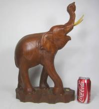 LARGE WOOD ELEPHANT