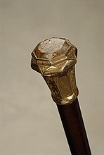 An important California gold quartz presentation cane