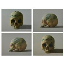 Damien Hirst, (British, b. 1965), Studio Skull Set, 2009 (a set of four works), two color screenprints; two color screenprints with...