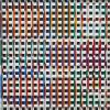 Yaacov Agam, (Israeli, b. 1928), Hidden Image, silkscreen on plastic with moveable grille, 13