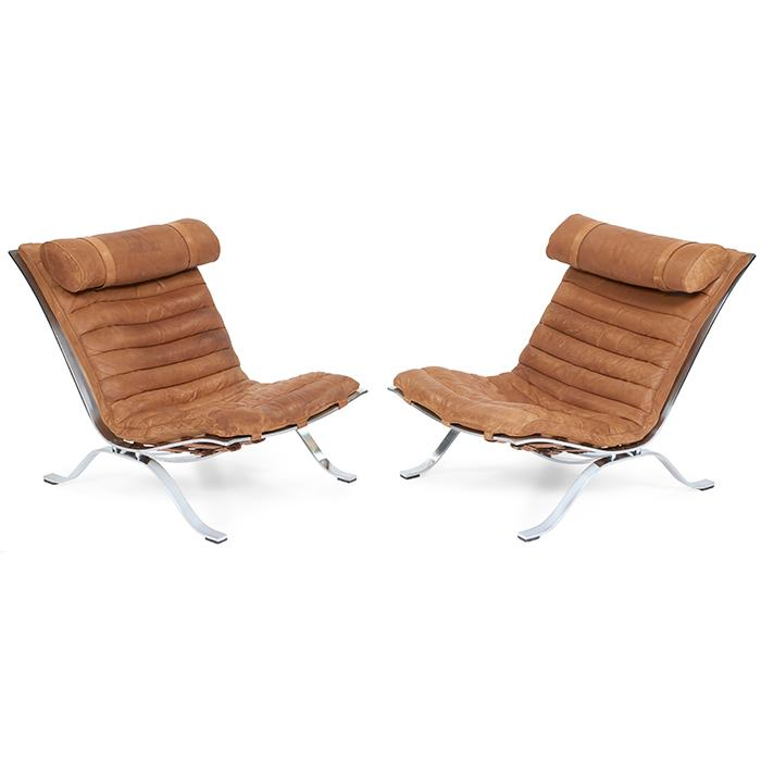 Arne Norell 1917 1971 for Arne Norell AB Ari lounge chairs