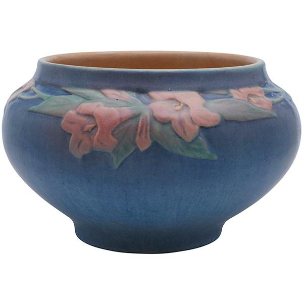 Anna Frances Simpson (1880-1930) for Newcomb College Trumpet Flower bowl, #OI28 8