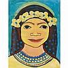 Thelma Johnson Streat (American, 1912-1959), Hawaiian Girl in Yellow, Thelma Johnson Streat, Click for value