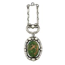Ednah Sherman Girvan Higginson (1873-1963) locket pendant necklace 1 1/2