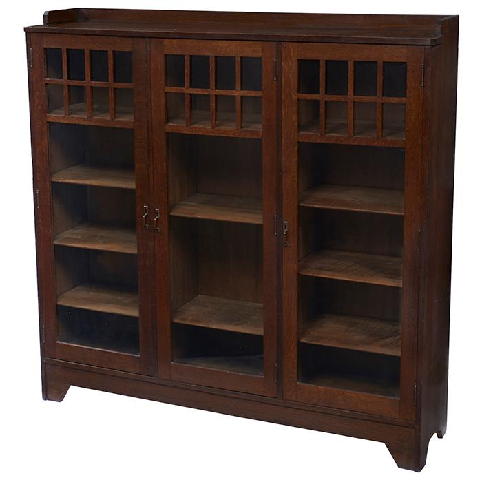 Grand Rapids Furniture Co Three Door Bookcase 57 Quot W X 14 Quot D X