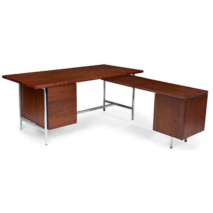 Florence knoll b 1917 for knoll associates desk and retur for Knoll and associates