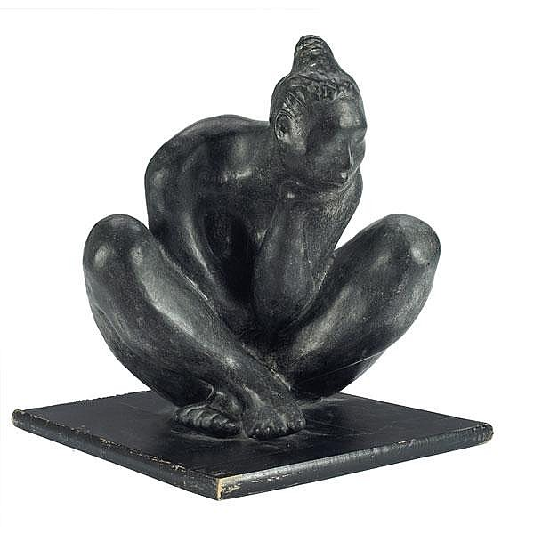 Jorge Luis Cuevas Nude bronze, 14.5