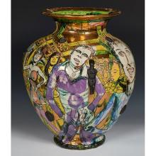 Grayson Perry, (British, b. 1960), Isn't That Damien Hirst Over There?P, 1995, glazed earthenware, 20.5