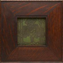 Marblehead Pottery, Arthur E. Baggs (1886-1947), designer Oak Tree tile tile: 6.25