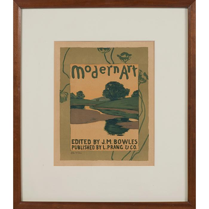 Arthur Wesley Dow, (American, 1857-1922), Modern Art (from Les Maîtres de l''Affiche), color lithograph, image: 10