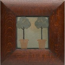 Marblehead Pottery Potted Trees tile tile: 6.25