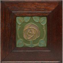 Rookwood Pottery Scottish Rose tile, #1281BY tile: 6