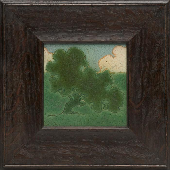 Grueby Faience Company, Addison B. LeBoutillier (1872–1951), designer The Oak Tree tile tile: 6