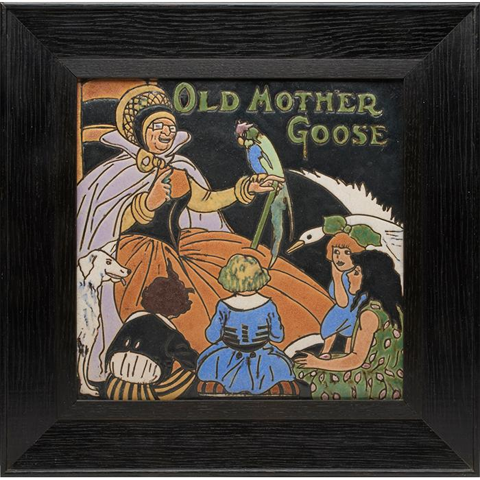 J.B. Owens Pottery / Empire Floor and Wall Tile Company Old Mother Goose nursery rhyme tile tile: 11.5