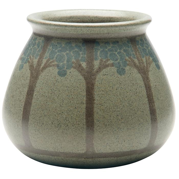 Hannah Tutt (1860-1952) for Marblehead Pottery Tree vase 4.5