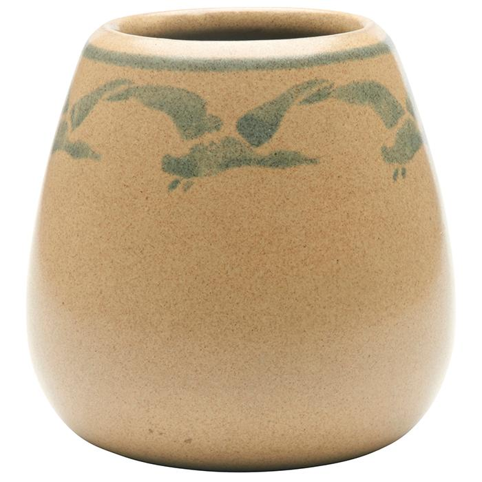 Marblehead Pottery Geese vase 3.5
