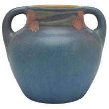 Sadie Irvine (1887-1970) for Newcomb College Floral two-handled vase, #254 5