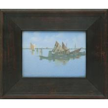 Charles (Carl) Schmidt (1875-1959) for Rookwood Pottery Harbor Scene plaque plaque: 7