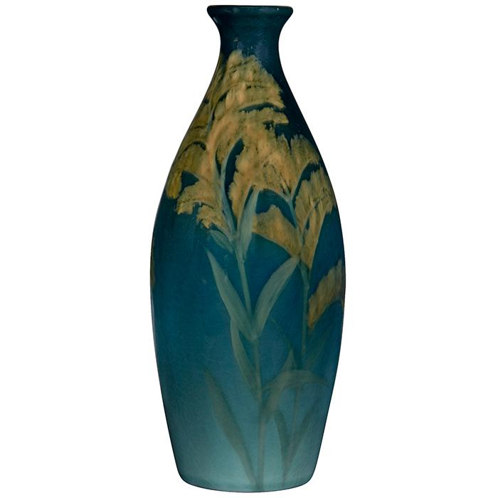 Charles (Carl) Schmidt (1875-1959) for Rookwood Pottery Goldenrod vase, #796C 3
