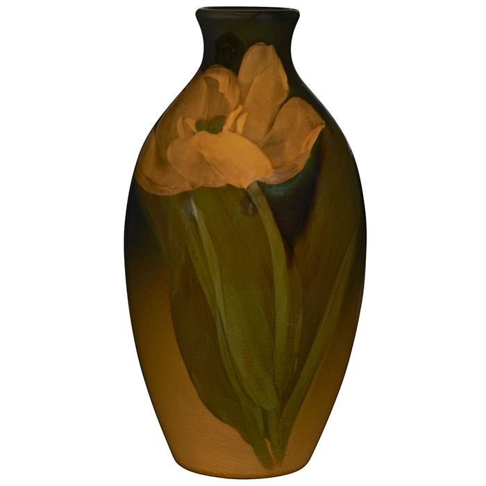 Marianne Mitchell (active 1901-1905) for Rookwood Pottery Tulip vase, #732BB 4