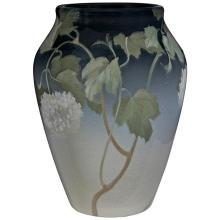 Fred Rothenbusch (1876-1937) for Rookwood Pottery Snowball Bush vase, #915B 7.5