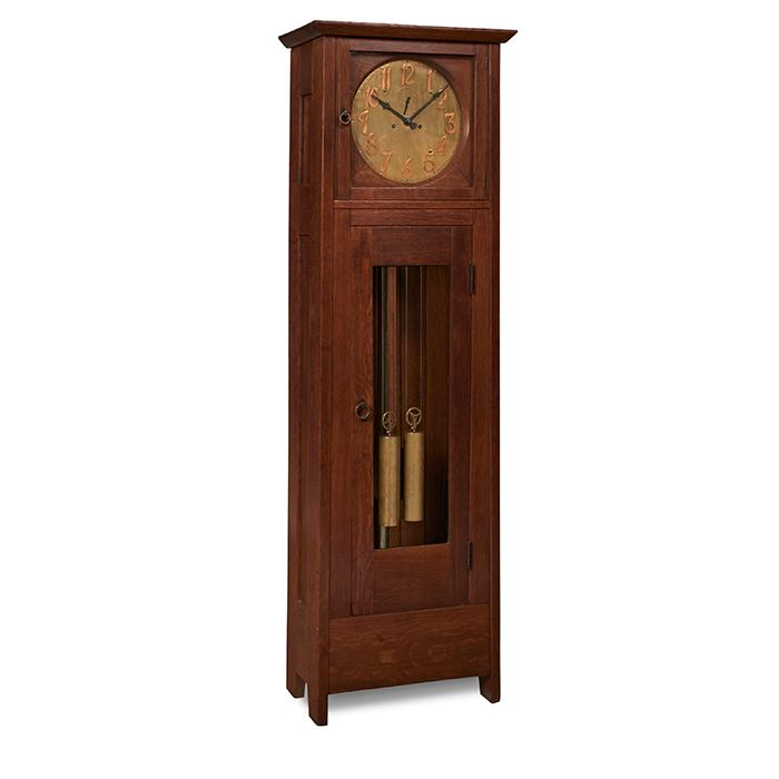 Gustav Stickley tall case clock, #3 21