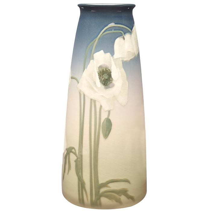 Lenore Asbury (1866-1933) for Rookwood Pottery Poppies vase, #1660C 5