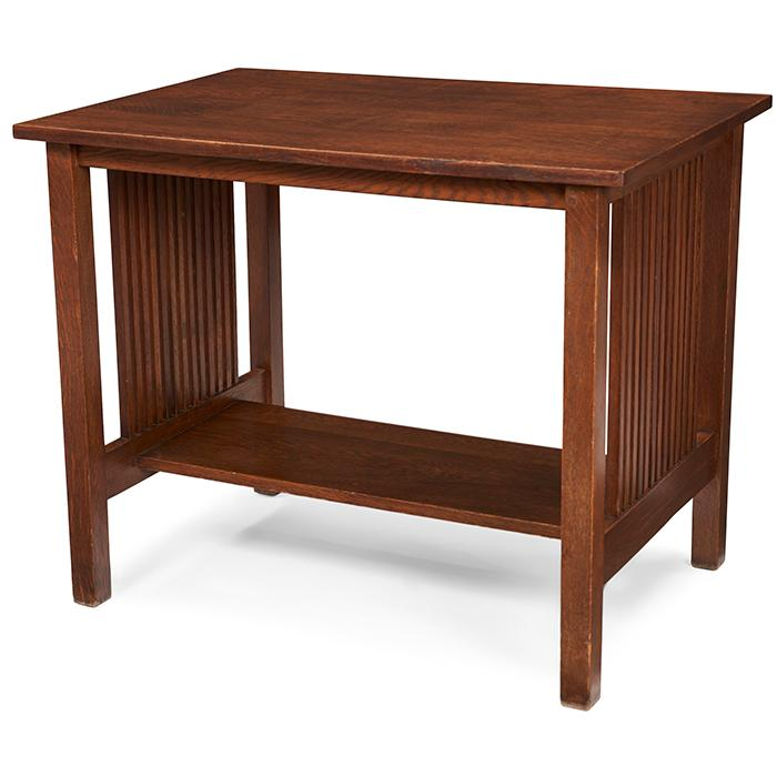 Gustav Stickley spindle table, #655 36