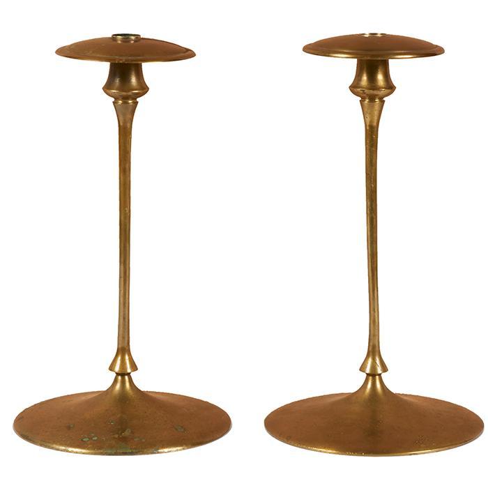 Jessie Preston (1873- after 1942) candlesticks, #8, pair 7.5