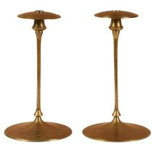 Jessie Preston (1873- after 1942) candlesticks, #8, pair 7.5