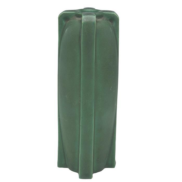 Teco, W.D. Gates (1852-1935), designer buttressed four-handled vase, #436 2.5