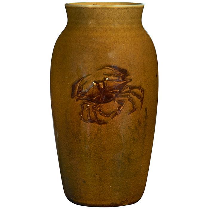 Martin Rettig (1869-1956) for Rookwood Pottery Crab vase, #80B 3.5