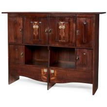 English Arts & Crafts inlaid cabinet 69