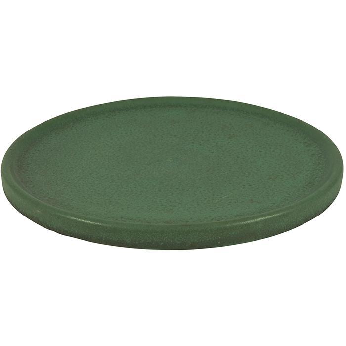 Teco, W.D. Gates (1852-1935), designer round tray, #307 10.5