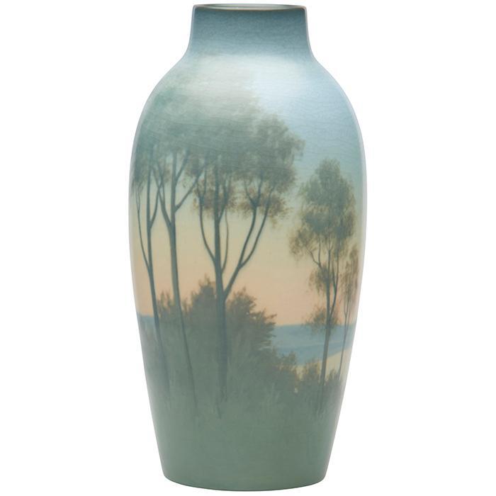 Charles (Carl) Schmidt (1875-1959) for Rookwood Pottery Landscape vase, #940D 5