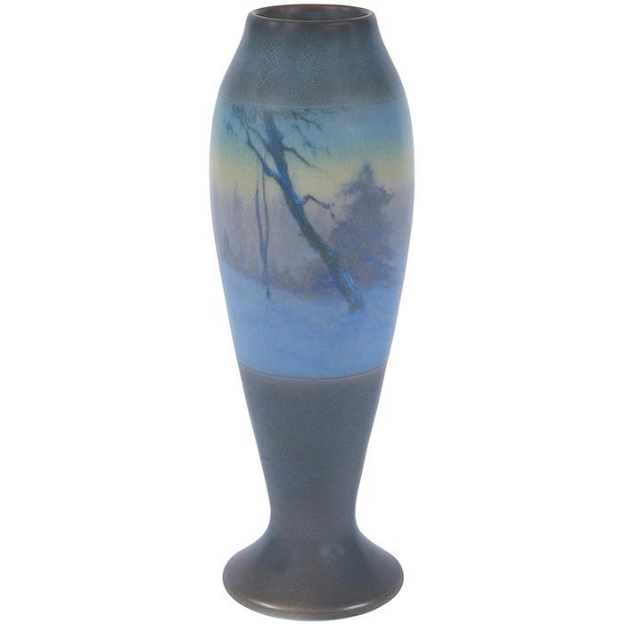 Fred Rothenbusch (1876-1937) for Rookwood Pottery Landscape vase, #949D 3