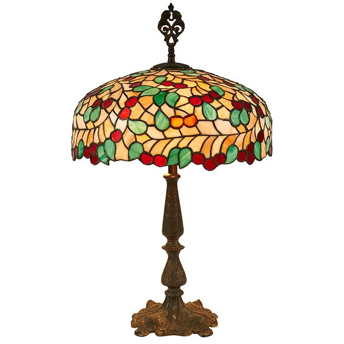 Chicago Mosaic, Attribution Cherry table lamp 18