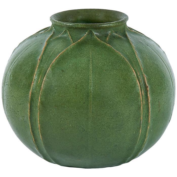 Ruth Erickson (b. 1883) for Grueby Faience Company vase 5