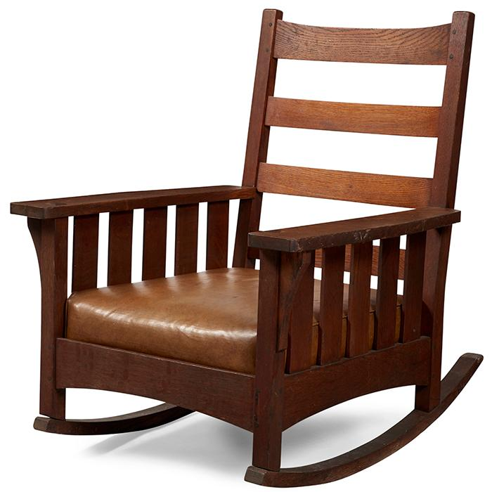 L & JG Stickley from the Onondaga Shops rocker 31