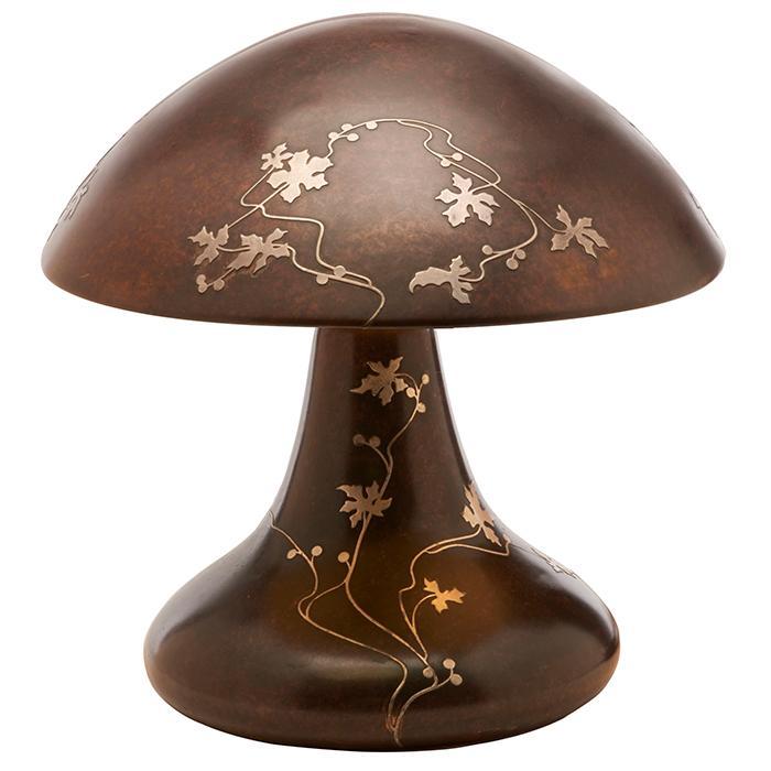 Heintz Art Metal Shop Woodbine mushroom table lamp 15